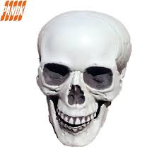 life size realistic halloween skull decorations holiday props