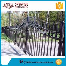 cheap ornamental wrought iron fence spear top fence cast iron