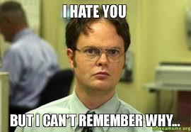 I Hate You Meme - i hate you but i can t remember why make a meme