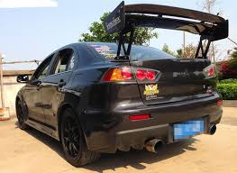 mitsubishi evo spoiler carbon fiber voltex type 5 style rear gt wing spoiler for evolution