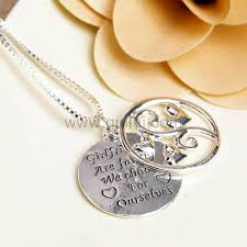engraveable gifts engravable friendship necklaces jewelry gift set for