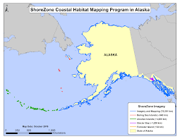 Aleutian Islands Map Shorezone Coverage
