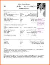 acting resume template microsoft word theatre resume template best of 5 6 actor resume template
