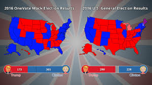 National Election Results Map by Onevote Mock Election Channel One News