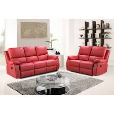 Cheap Recliner Sofas Uk by Cameo Vibrant Red Leather Power Recliner Sofa Collection With Usb