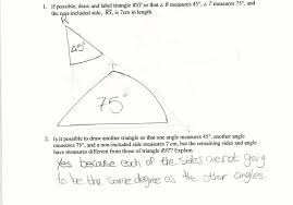 drawing triangles aas students are asked to draw a triangle given