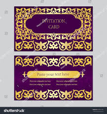 Beautiful Invitation Cards Set Invitation Cards Business Cards Beautiful Stock Vector