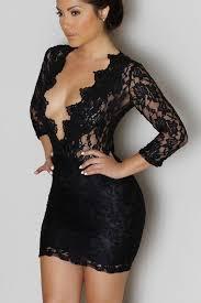 club dresses black lace v neck mini club dress mb22108 modeshe