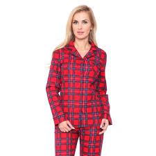 white s slim fit plaid flannel pajama set free