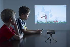 new pocket projector lets you turn any wall into 80 foot android