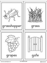 letter g word list with illustrations printable poster letter g
