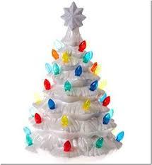 ceramic christmas tree with lights cracker barrel christmas kitsch for sale at cracker barrel mid century every day