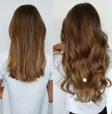 invisible hair 60cm wavy 5 in hair extensions one heat resistant hair