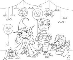 halloween candy coloring pages halloween coloring costume party worksheet from kiboomu worksheets
