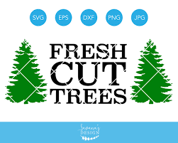 fresh cut trees svg eps dxf clipart illustrations creative market