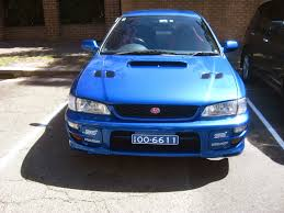 subaru wrx gti aussie old parked cars 1999 subaru impreza wrx sti coupe