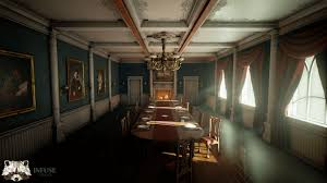 victorian dining room by infuse studio in environments ue4