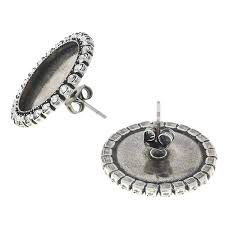 flat back earrings 16mm rivoli flat back stud earring base with sw rhinestone gita