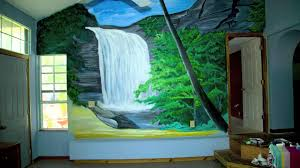 hand painted wall mural youtube