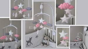 mobile chambre enfant décoration chambre bébé fille et gris photo enfant mobile theme