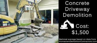 Driveway Repaving Cost Estimate by How Much Does It Cost To Demolish A Concrete Driveway Hometown