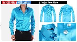 new fashion men slim fit silk long sleeve tuxedo shirts mens dress