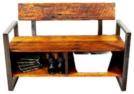 Wood Storage Benches Reclaimed Wood Storage Bench Rustic Accent And Storage Benches