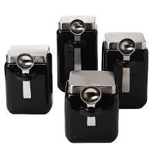 oggi kitchen canisters black canister sets for kitchen dayri me