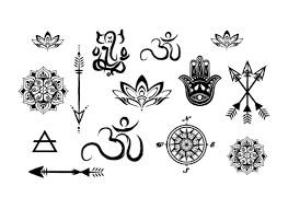 yoga tattoo pictures yoga minis temporary tattoo set trailer boutique trailerboutique com