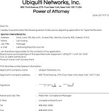 uapacshd unifi access point cover letter fcc u0026ic signature