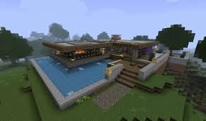 bungalow on creeper island minecraft project
