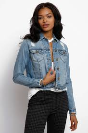 Light Denim Jacket Evidnt Light Wash Frayed Hem Cropped Denim Jacket South Moon Under
