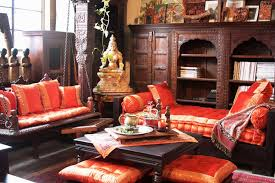 traditional living rooms indian room designs wihte fur rug glass