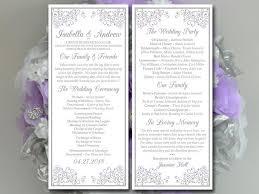 Beach Wedding Program Templates 34 Best Purple Weddings Images On Pinterest Purple Wedding