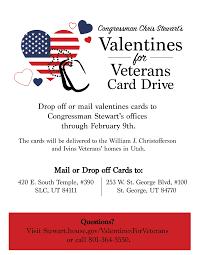 valentines for valentines for veterans card drive congressman chris stewart