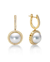 pearl and diamond drop earrings pearl diamond earrings neiman