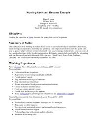 Best Resume Template For Nurses by Cna Resume Samples Resume For Your Job Application