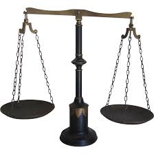 antique black and gold painted scale found at www rubylane com