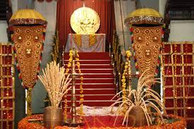 traditional decor at a malayali hindu wedding southindian
