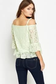shoulder cut out blouse lace cut out shoulder top just 5