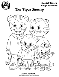 coloring pages of tigers daniel tiger coloring pages best coloring pages for kids