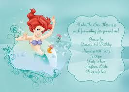 mermaid birthday invitation ideas