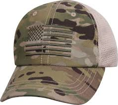 American Flag Visor Rothco Operator Tactical Ball Cap Mesh Back Hat W Embroidered Us