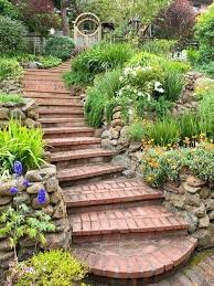 Brick Stairs Design Brick Stairs Photo Of A Traditional Hillside Brick Landscaping In