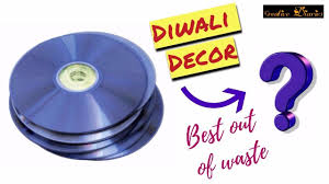 diy diwali decor i how to reuse cds for diwali decoration i home