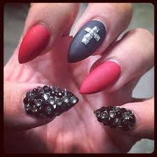 29 incredible red acrylic nails designs u2013 slybury com