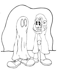 vampire coloring kids dressed vampire u0026 ghost