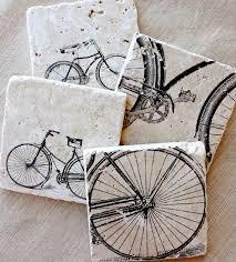 Cycling Home Decor Bike Coasters Bike Gift Bicycle Bike Bicycle Decor Bicycle