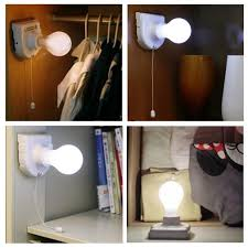 Battery Operated Light Fixture 1pc White Stick Up Lights Cordless Wireless Battery Operated