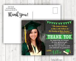 thank you cards for graduation graduation thank you etsy